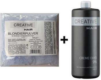 Creative Hair SET Blondierung 500 g + Creative Hair Creme Oxydant 9% 1000 ml