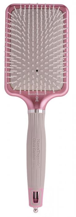 Olivia Garden Nano Thermic Paddle Brush Think Pink Edition