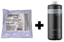 Creative Hair SET Blondierung 500 g + Creative Hair Creme Oxydant 12% 1000 ml