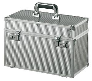 Comair Werkzeugkoffer Meister Aluminium mit aufklappbarer Front silber