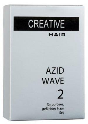 Creative Hair Azid Wave 2  poröses/gefärbtes Haar 2 x 80 ml