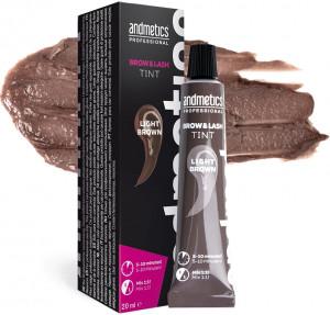 andmetics Brow & Lash Tint Light Brown 20 ml