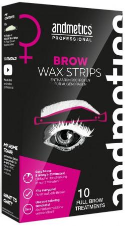 andmetics Brow Wax Strips Woman 10 Stück