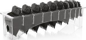 Aufsteckkamm Set mit 10 magnetischen Aufsätzen schwarz