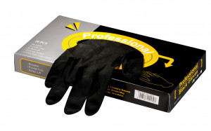 Black & pro Latexhandschuhe schwarz 6,5 klein 20 Stück