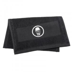 Comair Barberhandtuch 100% Baumwolle Rasierhandtuch schwarz