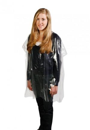 Comair Einweg-Umhänge transparent zum Binden 100 Stück