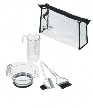 Comair Färbezubehör-Set transparent 5-teilig