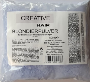 Creative Hair Blondierung Blondierpulver staubfrei 500 g. -Made in Germany-