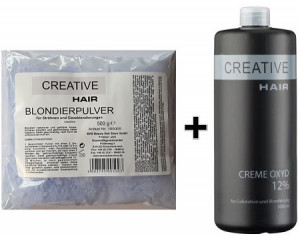 Creative Hair SET Blondierung 500 g + Creative Hair Creme Oxydant 12% 1000 ml
