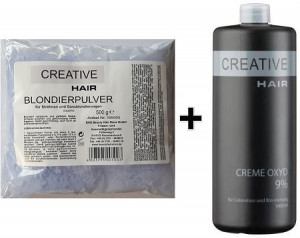 Creative Hair SET Blondierung 500 g + Creative Hair Creme Oxydant 9% 1000 ml
