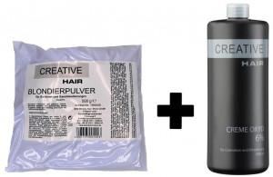 Creative Hair SET Blondierung 500 g + Creative Hair Creme Oxydant 6% 1000 ml