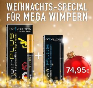 Hairplus Facevolution Wimpernserum SET+ Lash Mascara 6 ml GRATIS