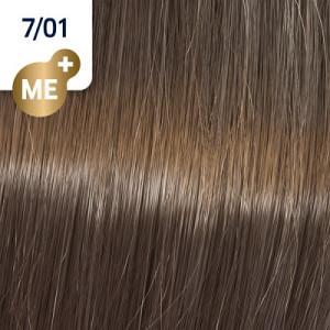 Wella Koleston Perfect ME+ 7/01 mittelblond natur-asch 60 ml Pure Naturals