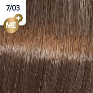 Wella Koleston Perfect ME+ 7/03 mittelblond natur-gold 60 ml Pure Naturals
