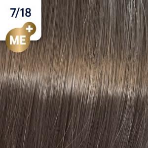 Wella Koleston Perfect ME+ 7/18 Mittelblond Asch-Perl 60 ml Rich Naturals