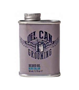 Oil Can Grooming Retro Design Bartöl Blue Collar 50 ml
