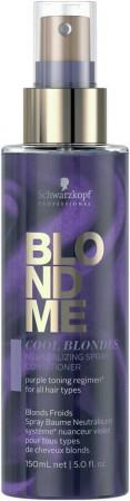 Schwarzkopf Blondme Cool Blondes Neutralizing Spray Conditioner 150 ml