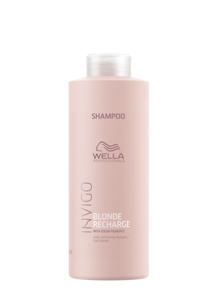 Wella Professionals Invigo Blond Recharge Cool Blonde Color Refreshing  Shampoo 1000 ml 5776bc698e8